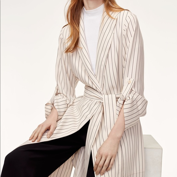 timeless design 9b8ff 2af97 Aritzia Jackets & Coats | Striped Kahlo Robe Small | Poshmark